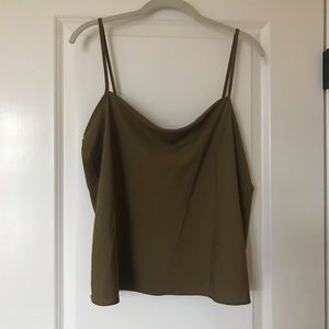 Drapey olive green top